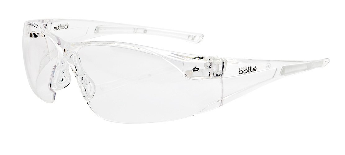 d8e68192bc5 Bollé Safety 253-RH-40070 Rush Safety Eyewear with Rimless Frame and Clear  Anti-Fog Anti-Scratch Lens - Safety Glasses - Amazon.com