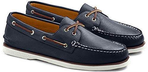 Sperry Mens A/O 2-Eye Boat Shoe, Navy, 7 (Ii Rawhide)