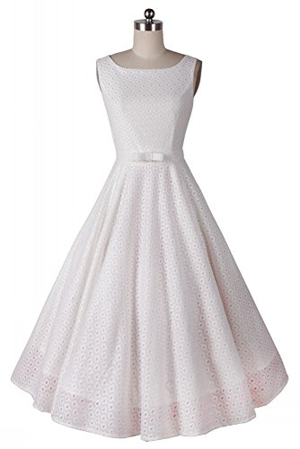 AvaCostume Womens Sleeveless Cocktail Bowknot