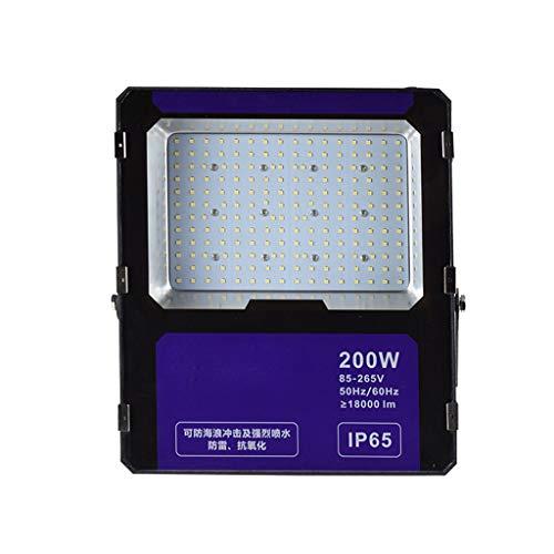 (LED Flood Light,outdoor Waterproof Work Light Safety Light 85V-265V Square Projection Light (Color : 200W))