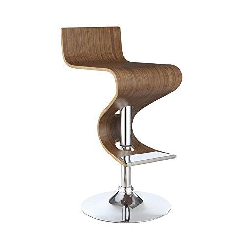 Coaster Home Furnishings 100396 Adjustable Bar Stool, Walnut