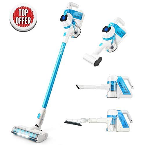 Cordless Stick Vacuum Cleaner, SIMPFREE Lightweight Hand Vacuum for Carpet Hardfloor, 5 in 1 Vacuum for Deep Clean
