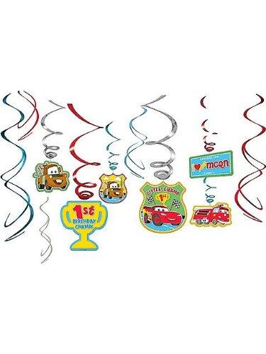 Cars 1st Birthday Swirl Decorations (12)
