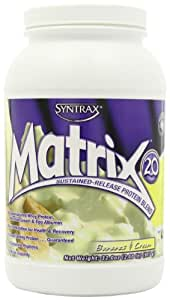 Syntrax Matrix 2.0, Bananas and Cream, Whey Protein, 2.00 Pounds