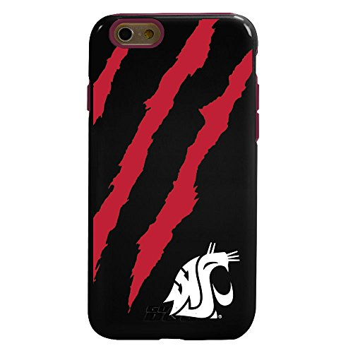 Guard Dog NCAA Washington State Cougars Hybrid iPhone 6 Case, Black, One ()