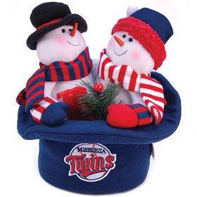 MLB 3 Plush Snowmen Plush Top Hat MLB Team: Minnesota Twins