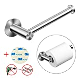 Toilet Paper Holder MEZOOM Self Adheaive Toilet Roll Holder 304 Stainless Steel Wall Mounted Tissue Paper Hanger with 3M Replacement Adhesive for Bathroom Kitchen Lavatory