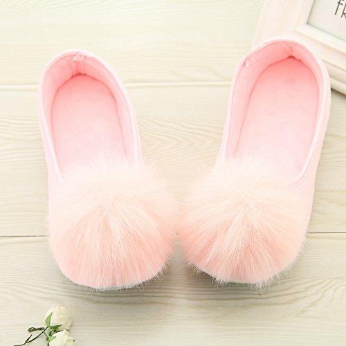 à Yoga de Chaussures Rose Femmes laamei Maison Chaussons Plush Enceintes Chaussures de la Pantoufles Slippers Femmes RXW6x1wqg