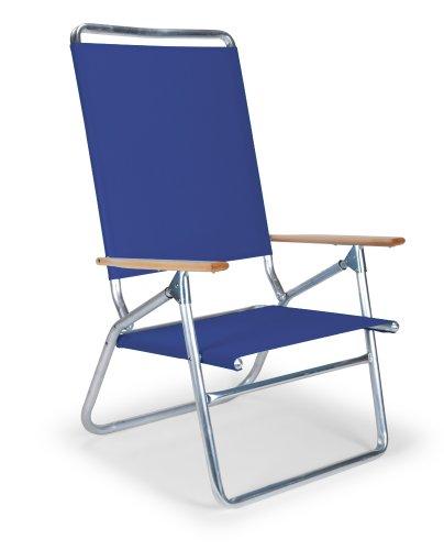 Telescope Casual Light n' Easy High Boy Chair, Aluminum Frame with Atlantis Blue Fabric