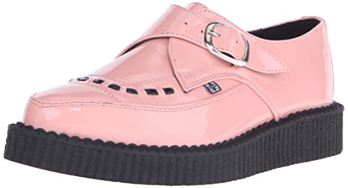 Patent Shoes Creeper Pink k T Pointed Buckle Monk u Peachy CwvFnBq
