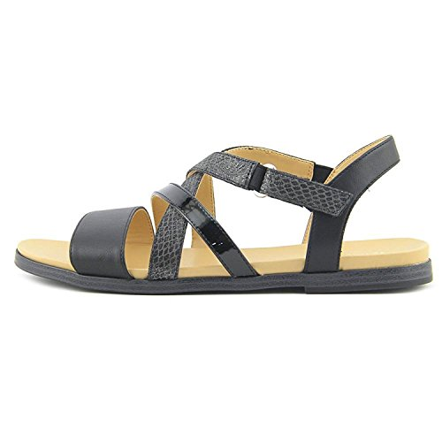 Naturalizer Womens Kandy Open Toe Casual Slingback Sandals, Black, Size 7.5 US/5.5 UK US