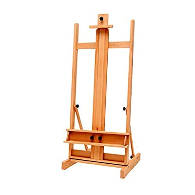 Easels Floor Standing Large Adjustable Lift Down Beech Wood Sketchpad Oil Painting Stand Advertising Sketching Drawing Display Holder