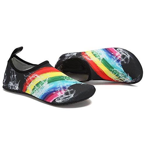 Fanture Lightweight Women and Men Aqua Water Shoes Quick-Dry Breather Sports Skin Barefoot Anti-Slip Multifunctional L.black01 SnJCjq4