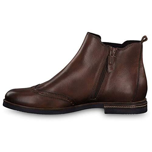 Cognac Boots Tamaris 25027 Brown 305 Chelsea 31 Women's q1Sw8Y