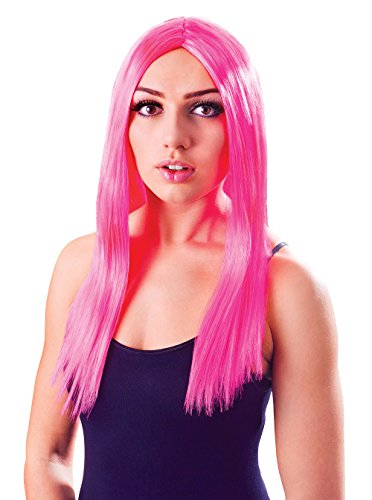Katy Perry Dresses For Kids (Retail Zone Women's Neon Wig Katy Perry Style Cyber Girl Fancy Dress 18