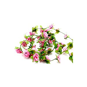 Artificial Leaf Vine Fake Silk Roses Flower Ivy Vine Artificial Flowers with Green Leaves for Home Wedding Hanging Garland Home,G 9