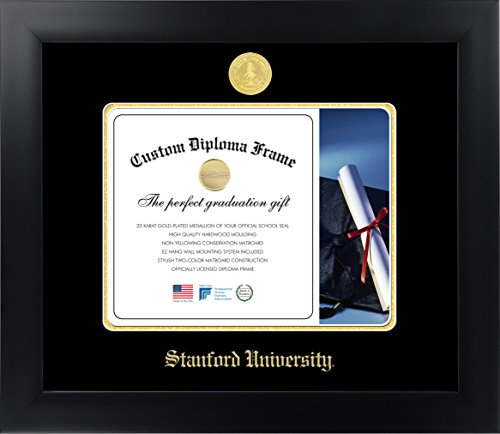 (Celebration Frames Stanford University 8½ x 11 Matte Black Finish Infinity Diploma Frame)