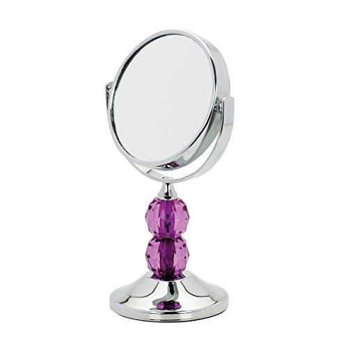 Danielle Acrylic Stem Mini Mirror, Purple