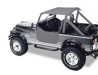 Bikini Top Charcoal 1976-1991 Jeep CJ7 CJ8 And YJ Wrangler 52508-09 (Cj7 Wrangler Cj8)