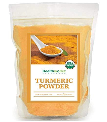 Healthworks Turmeric Root Powder (Curcumin) Organic, 2lb, (packaging may vary)