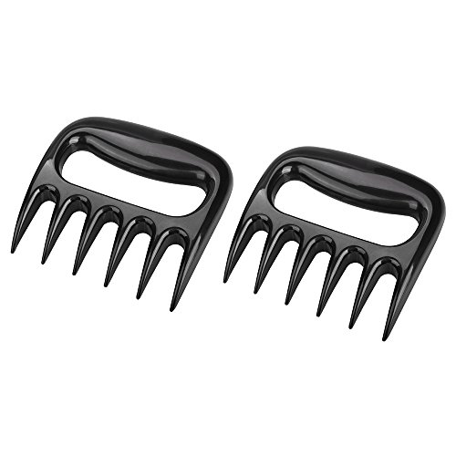 Ninonly Pulled Pork Shredder Claws BBQ Grill Tools Smoking Accessories Claw Handler Set Easy Lift Handle Shred All Types of Meats in Kitchen for Pulling Brisket from Grill Smoker or Slow Cooker