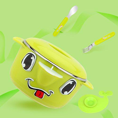 【メーカー直売】 Xing Lin子供のテーブルウェアセットベビーカトラリーベビー水噴射絶縁ボウルベビーステンレススチールスプーンSuit Green 6906981987665 Green bowl fork fork spoon Xing B078RKZVGC, 白岡町:e118f7b0 --- beyonddefeat.com