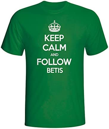 Gildan Keep Calm and Follow Real Betis T-Shirt (Green): Amazon.es: Deportes y aire libre