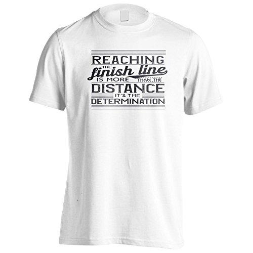 Das Erreichen Der Ziellinie Ist Mehr Als Die Distanz, Die Bestimmung Schwarz Herren T-Shirt n747m