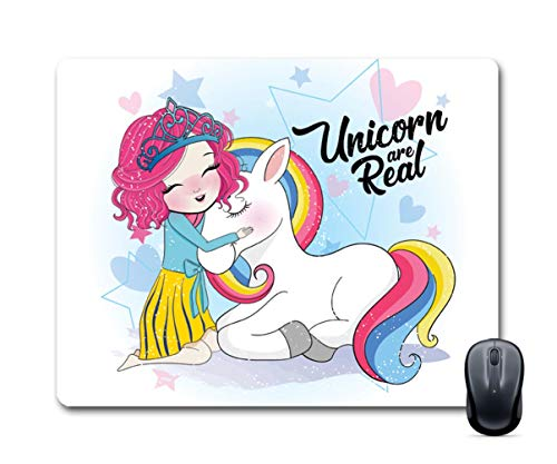 FABTODAY Designer Unicorn are Real Anti-Skid Mouse Pad for Desktop, Laptop, Computer and Gaming (Design ID – 0232)
