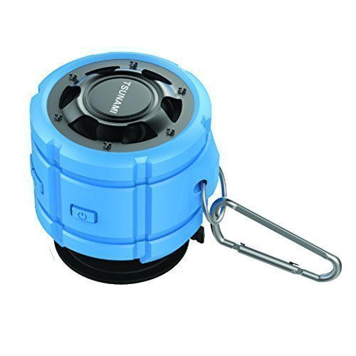 Tsunami outdoor waterproof ipx7 water resistant weatherproof portable bluetooth wireless shower for Waterproof speakers for swimming pools