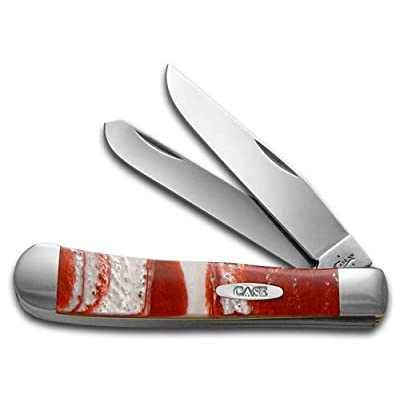 CaseXX XX Smooth Red Luster Corelon Trapper Stainless Pocket Knife Knives