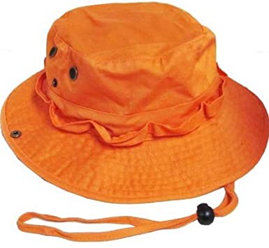f5bedcace3137 Amazon.com  S Cloth Orange Bucket Hat Boonie Hunting Fishing Out R ...