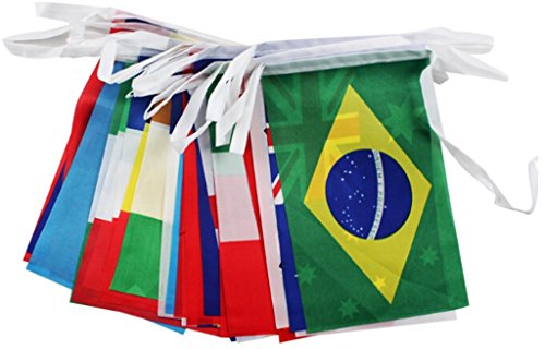 2018 FIFA World Cup Top 32 String Country Flag Banners Inter