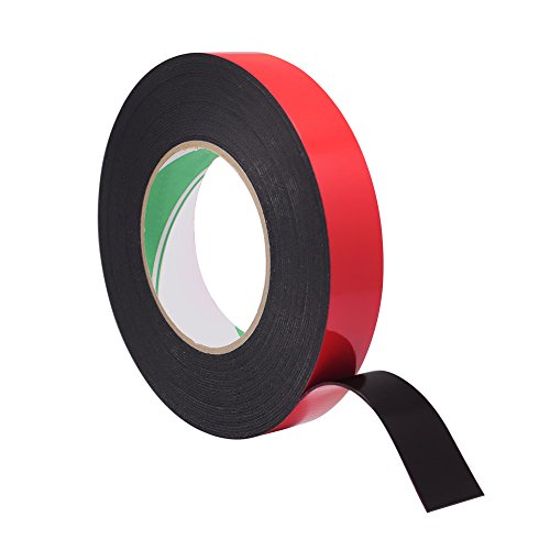 Meetory 10 Meter 25mm Width Double Sided Foam Mounting Tape - Sponge Tape Automotive Grade Number Plates Car - Tape Sided Cars Double For