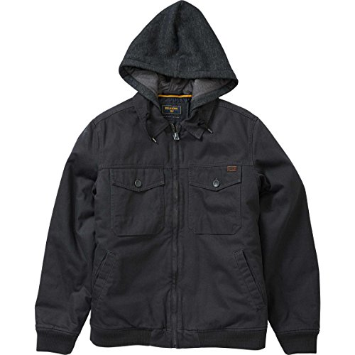 Billabong Men's Barlow Twill Jacket Char Large by Billabong