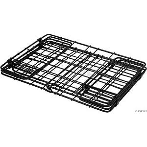 Wald 582 Folding Bicycle Rear Rack Grocery Baskets, Set of 2 Black