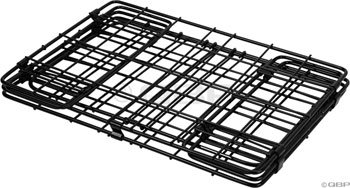 Wald 582 Folding Bicycle Rear Rack Grocery Baskets, Set of 2 Black