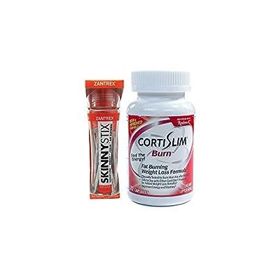 Basic Research Zantrex Skinny Stix Tangerine 25 ea and Cortislim Burn Formula