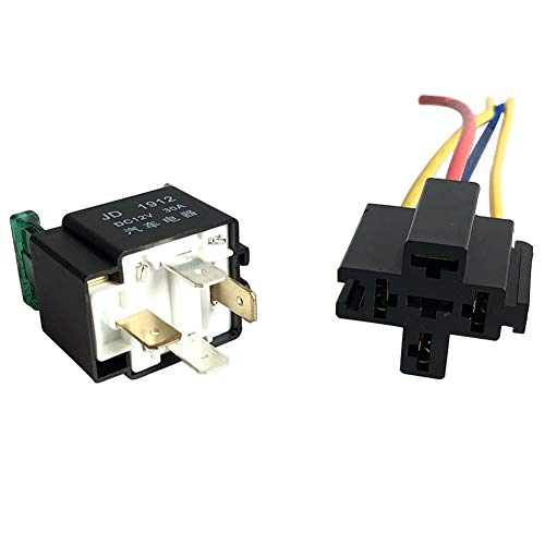 PAUL88 Relay 12V Holder 30A 4-Pin Electronic with Socket Car Accessory Automotive ON/Off Fused ()