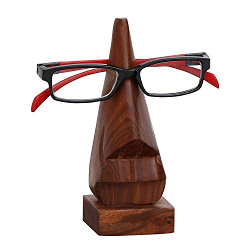 Todays Big Deal - Javi Clearance Sale Gift Collection for Him / Her - Witty Premium Wooden Nose Spectacle Display Stand / Eyeglass Holder Unique Desktop Accessory Home Decor - Eyeglasses Clearance