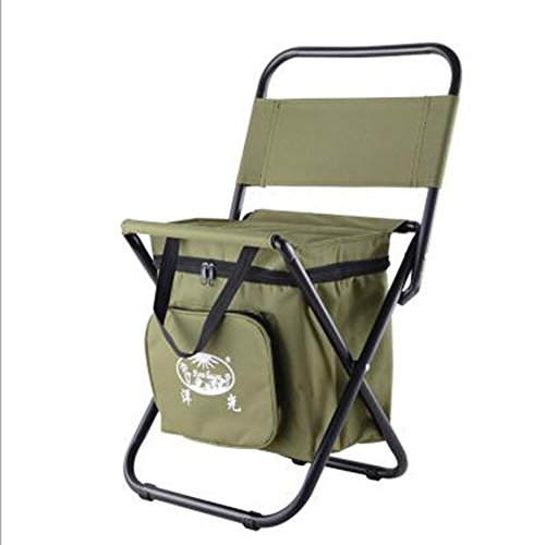 Folding Stool Cooler Camping Chair Stool Insulated Picnic Bag Multifunction Portable Ultralight Padded Hiking Outdoor Fishing Travel Beach BBQ