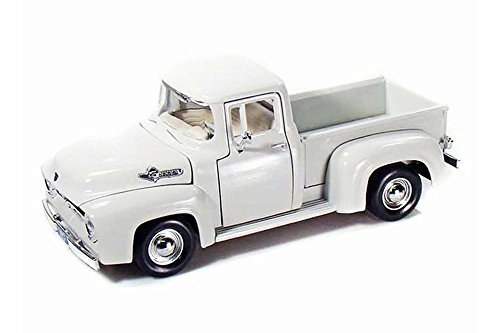 Motor Max 1956 Ford F-100 Pick Up, White 73235AC - 1/24 Scale Diecast Model Toy Car ()