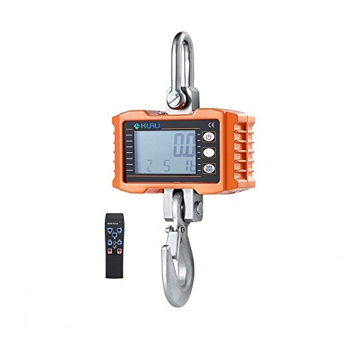 Hanging Scale,Klau 1000 kg 2000 lb Digital Industrial Heavy Duty Crane Scale LCD Display with Remote orange for Home Farm