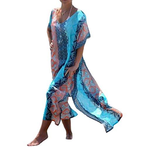 9ca68bb7af Bestyou Women s Turkish Chiffon Kaftans Printed Caftan Beach Cover up Tunic