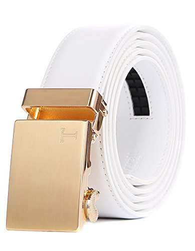 Custom Belt Buckle (Tonywell Belts for Men Ratchet Belt with Removable Buckle 35mm Leather Belts Custom Fit (One Size:32
