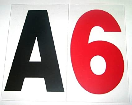 6 on 7 inch outdoor rigid marquee sign letters