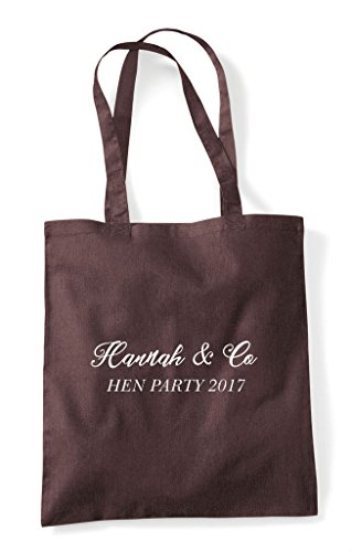 Party Bag Customised Shopper Name Brown And Co Hen Do Personalised Tote fgq1qaFw