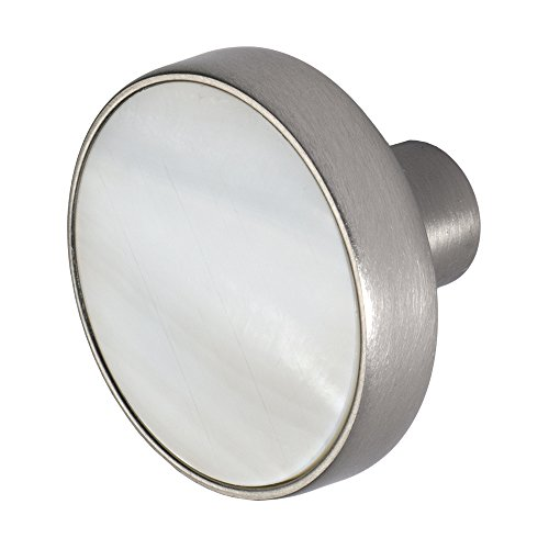 Pearl Nickel Knob (Wisdom Stone 4226SN Pearl 1-3/8 In. Cabinet Knob, Satin Nickel)