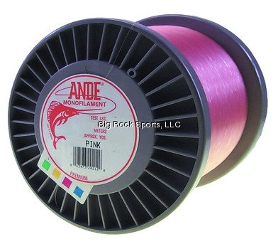 Ande A3-50P Premium Monofilament Fishing Line, 3-Pound Spool, 50-Pound Test, Pink Finish by ANDE