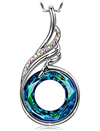 "Woman's ❤️Nirvana of Phoenix❤️ Swarovski Crystals Pendant Necklace Chain Length 18.0""+2.0"" Extender with Gift..."